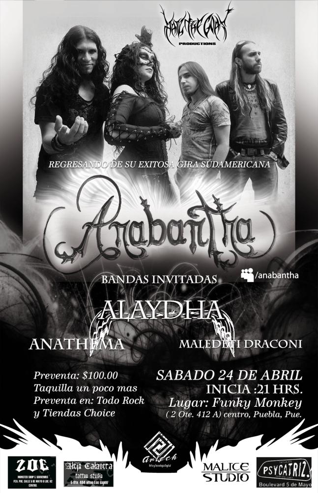 Nuevas fechas de Anabantha en México (1/2)